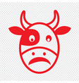 cow face emotion icon sign design vector image