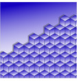 cubes of blue color vector image