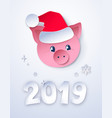 cut paper new year postcard vector image vector image