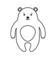 cute line icon bear cartoon vector image
