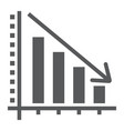 decrease glyph icon reduction and analytics vector image vector image