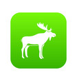 deer icon digital green vector image