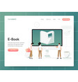 e-book concept modern design concept web page vector image