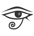 Egyptian Eye Of Horus Eye of Ra vector image vector image