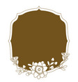 emblem frame with flowers vector image vector image
