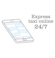 express taxi online of a chat vector image