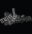 friuli venezia giulia italian food text vector image vector image
