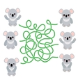 Funny cute koala set on white background vector image vector image