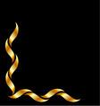 Gold design element vector image