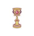 golden goblet chalice vector image