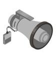 grey megaphone icon isometric style vector image vector image