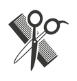 hairdressing equipment isolated icon vector image