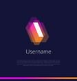 i-monogram-logo vector image vector image