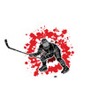 ice hockey player action graphic vector image