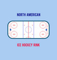 ice hockey rink isolated on the white vector image vector image