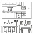 kitchen modern furniture vector image vector image