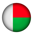 Madagascar flag button vector image