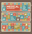 medicine and science banners set vector image