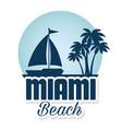 miami beach california seal vector image vector image