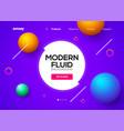 modern abstract fluid background gradient liquid vector image vector image