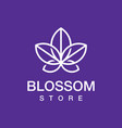 modern professional logo blossom store in purple vector image