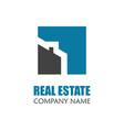 modern real estate logo template creative home vector image vector image