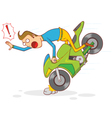 motorcycle accident vector image vector image