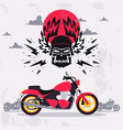 motorcycle for logo design vector image vector image