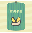 outline banana fruit icon modern infographic logo vector image