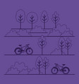 park scene with bicycle vector image vector image