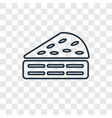 piece of cake concept linear icon isolated on vector image vector image