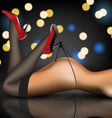 pin-up in stockings and shoes vector image vector image
