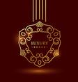 premium luxury golden floral symbol vector image vector image