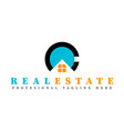real estate initial letter c logo design template vector image vector image