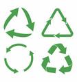 recycle icon set green eco cycle arrows vector image vector image