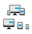 Responsive design for web - computer screen vector