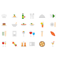 Restaurant food icons set vector image vector image