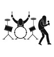 rock band icon simple style vector image