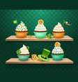saint patricks day sweets composition vector image vector image