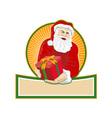 santa claus bearing gifts vector image vector image