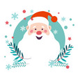 santa claus winter character old man symbol of vector image