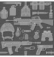 seamless military pattern 03 vector image vector image