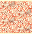 seamless pattern with warm terra cotta triangles vector image