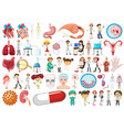 set medical health vector image vector image