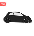 simple car icon flat hatchback symbol perfect vector image vector image