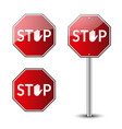 stop traffic road signs vector image