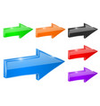 straight next arrows 3d colored shiny icons vector image vector image