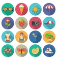 Summer and vacations icons set vector image vector image