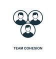 team cohesion icon monochrome style icon design vector image vector image