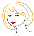 woman face drawing 4 vector image vector image